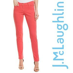 J MCLAUGHLIN Lexi Skinny Jean Cosmo Red Coral Pink